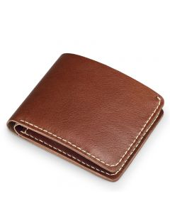 coffee leather wallet