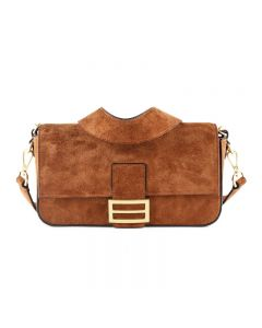 brown box leather bag