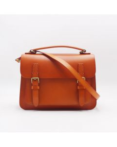 British Cambridge bag vegetable tanned leather  mail bag  messenger bag unisex design