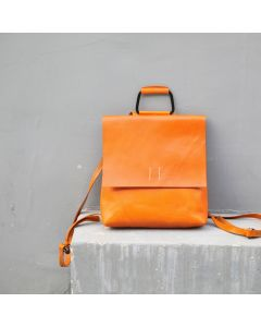 handmade leather backpack Full grain leather  Vegetable tanned leather